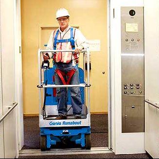Mastlı platform ile asansörde seyahat