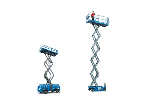 Platformları yükseltilmiş makaslı platformlar