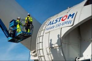 Teleskopik platform rüzgar türbini bakımında